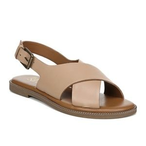 NEW Franco Sarto Kayleigh Slingback Leather Sandal